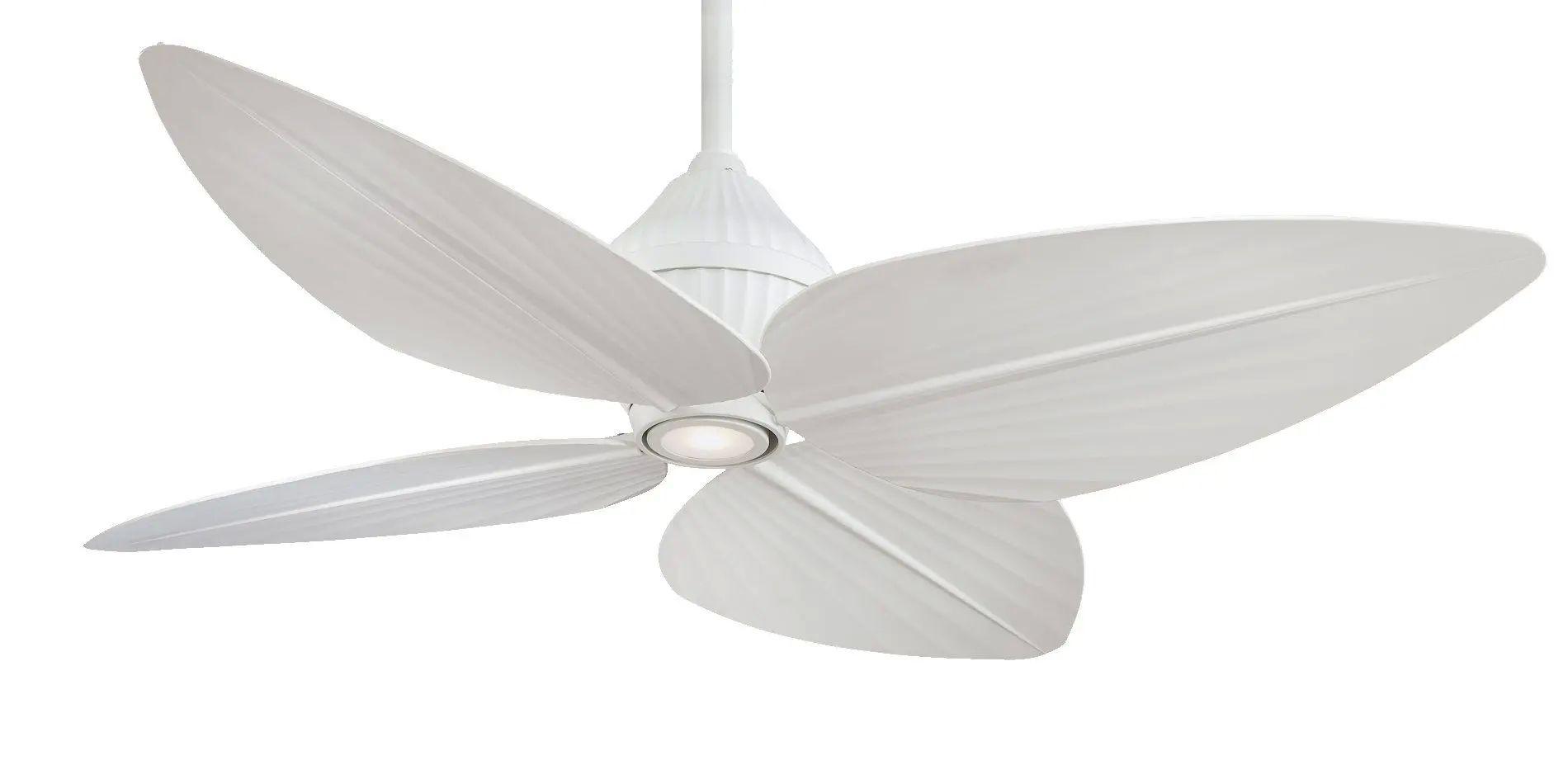 F581L-WHF Minka Aire Gauguin LED Ceiling Fan In Flat White