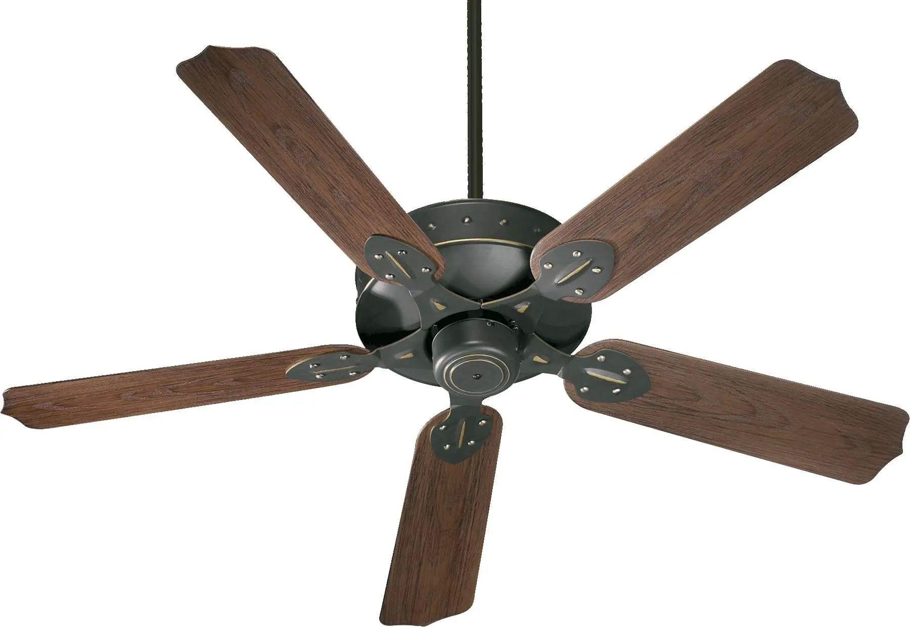 Quorum Hudson Patio Ceiling Fan in Old World