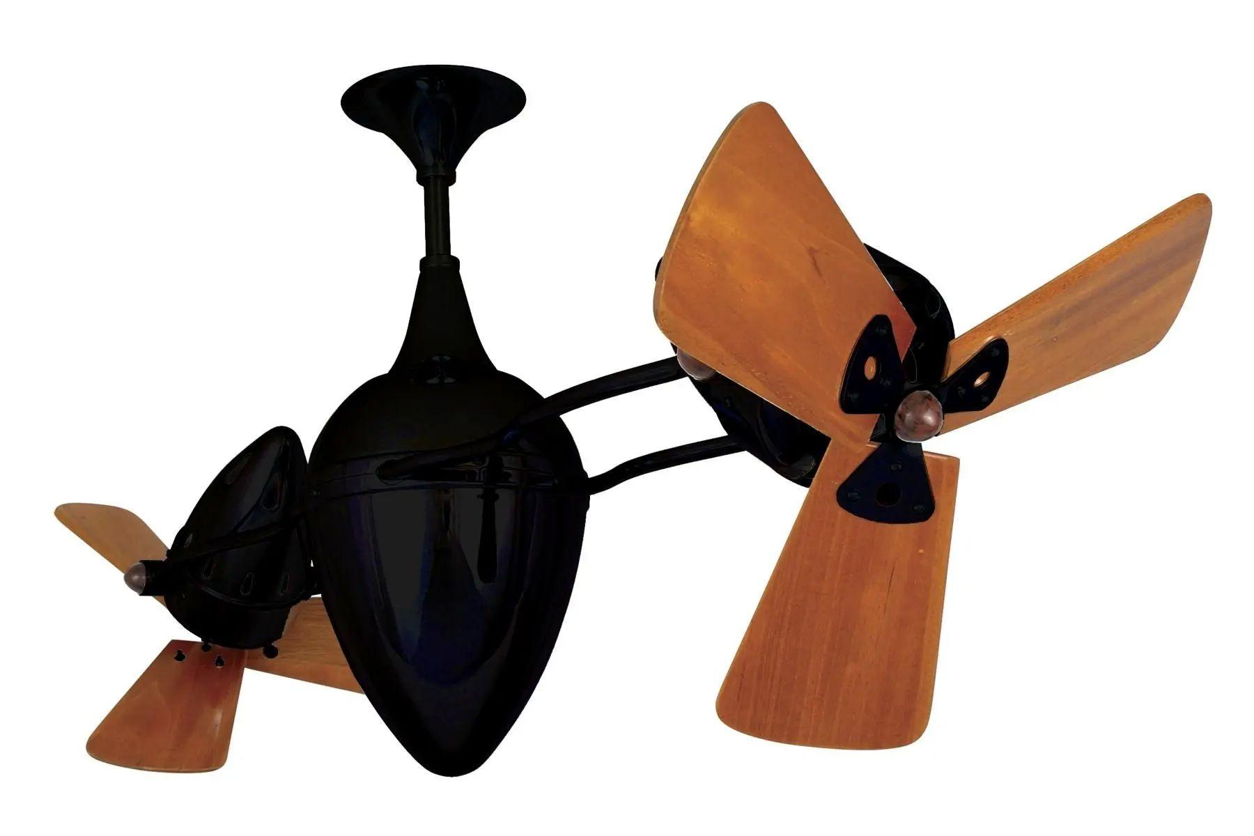Matthews Ar Ruthiane Wood Damp Fan in Black