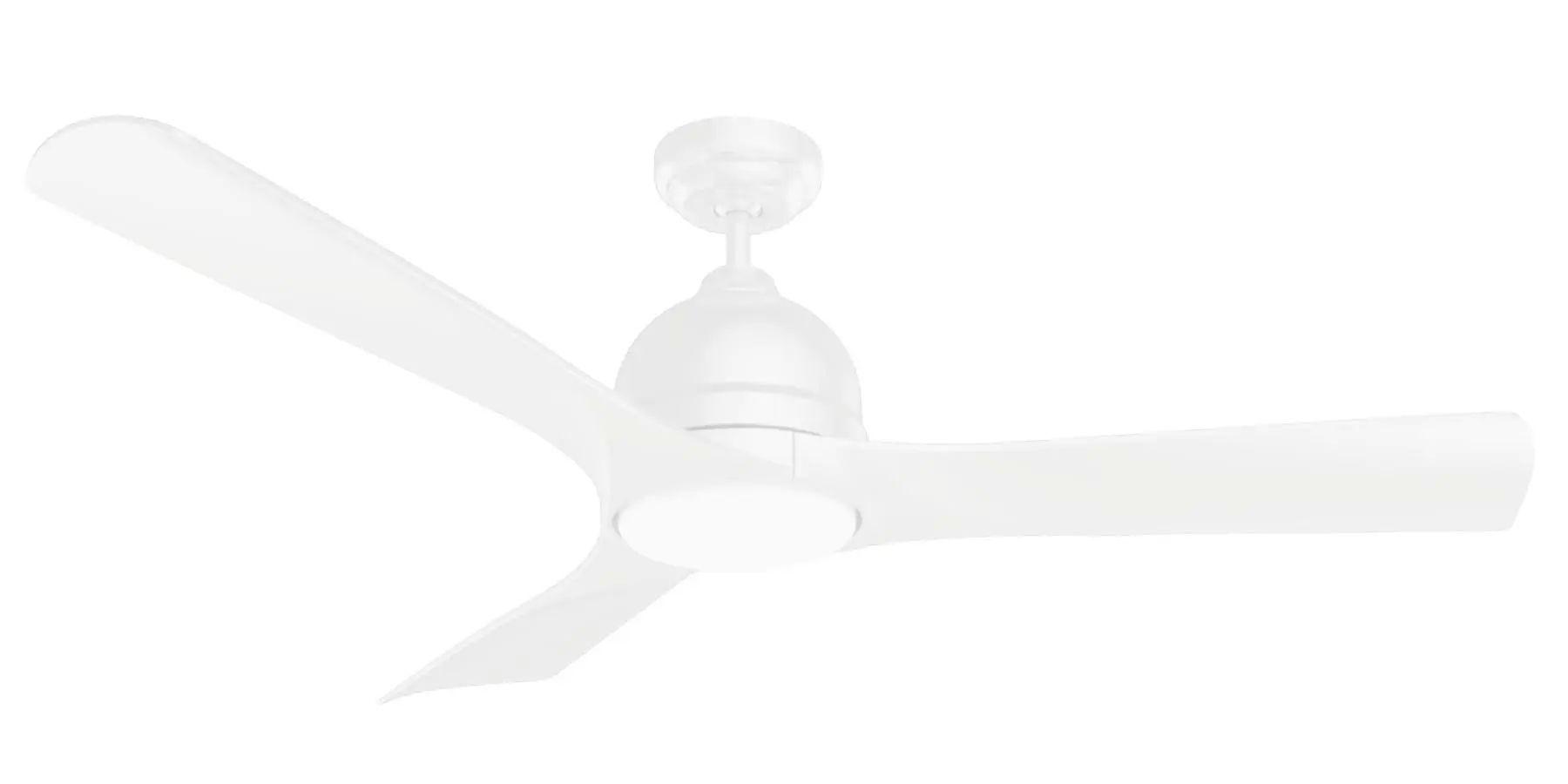 Emerson Volta Ceiling Fan In Satin White