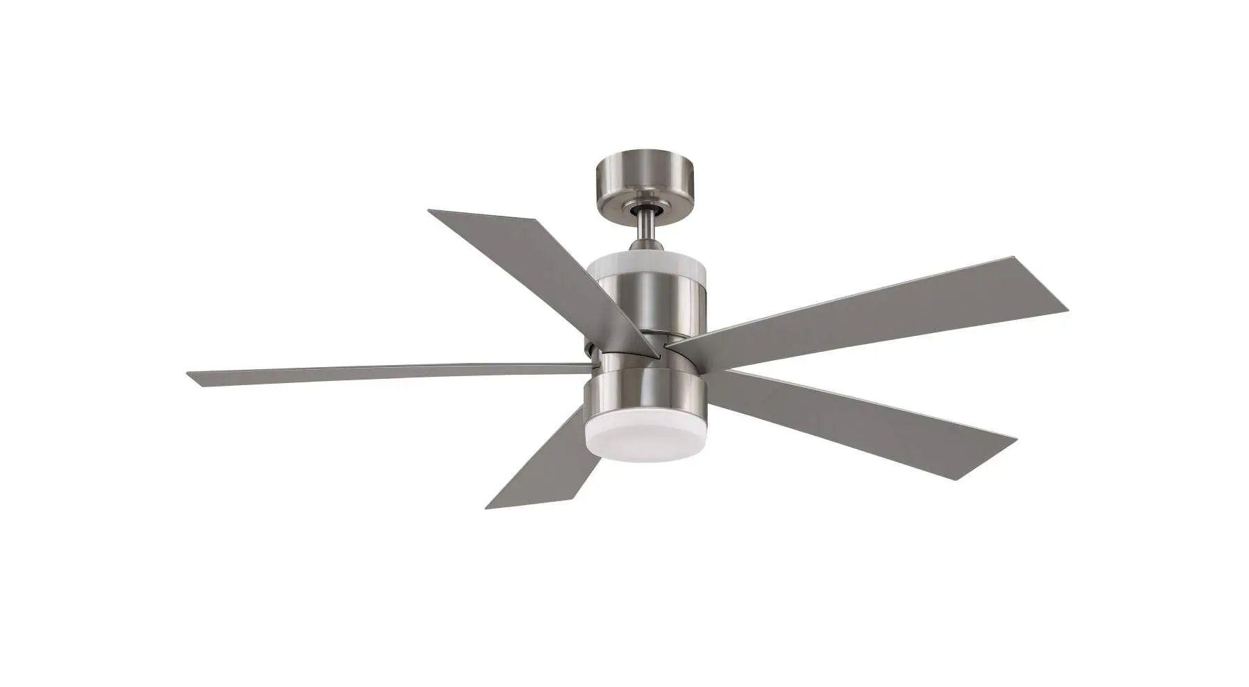Fanimation Torch Ceiling Fan In Brushed Nickel