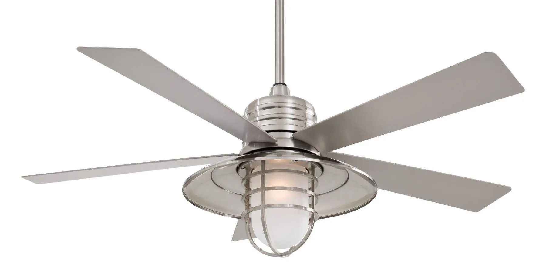 Minka Aire Rainman Ceiling Fan - Brushed Nickel Wet