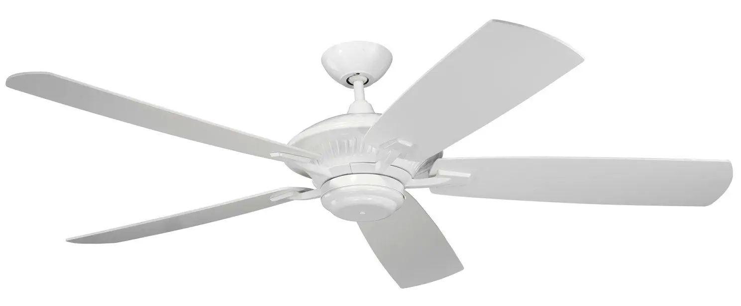 Monte Carlo Cyclone Ceiling Fan In White